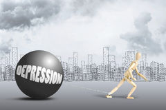 Concept of depression Royalty Free Stock Image