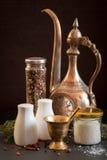 Concept des accessoires de sel et de poivre Photographie stock