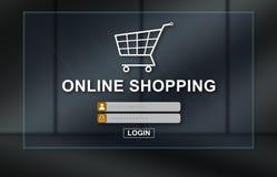 Concept des achats en ligne illustration stock
