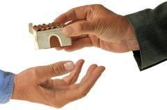 Concept des achats ou de louer une maison photo libre de droits