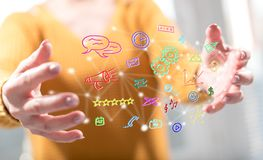 Concept des apps mobiles photos stock