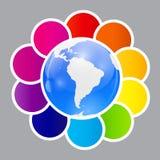 Concept des bannières circulaires colorées pour différent Images stock