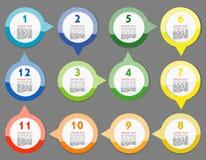 Concept des bannières circulaires colorées Photo libre de droits
