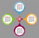 Concept des bannières circulaires colorées Photos libres de droits