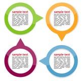 Concept des bannières circulaires colorées Image stock
