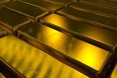 Concept des bars d'or 3d Photo stock