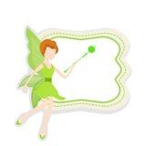 Concept des contes de fées avec l'ange mignon illustration de vecteur