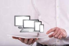 Concept des dispositifs de technologie photos stock