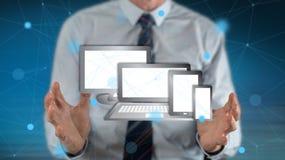 Concept des dispositifs de technologie photographie stock libre de droits