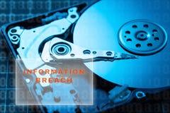 concept des données endommagées et cassées photographie stock libre de droits