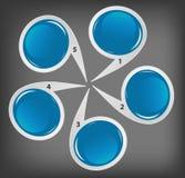 Concept des drapeaux circulaires colorés pour différent Images libres de droits