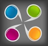 Concept des drapeaux circulaires colorés pour différent Photographie stock