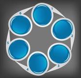Concept des drapeaux circulaires colorés pour différent Photos libres de droits