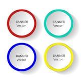 Concept des drapeaux colorés pour la conception différente d'affaires Illustration de vecteur Photographie stock libre de droits
