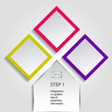 Concept des drapeaux colorés pour la conception différente d'affaires Illustration de vecteur Photo stock