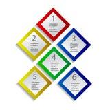Concept des drapeaux colorés pour la conception différente d'affaires Illustration de vecteur Photographie stock
