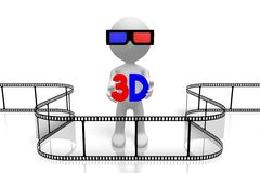 concept des films 3D illustration libre de droits