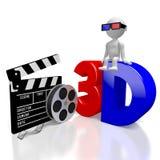 concept des films 3D Image libre de droits