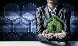Concept des immobiliers écologiques image libre de droits