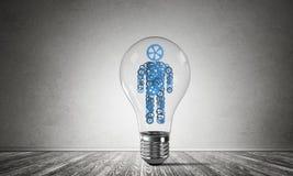 Concept des innovations efficaces pour l'humanité Images libres de droits