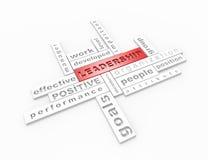 Concept des mots croisé leadership-3d Images libres de droits