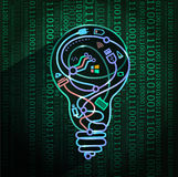 Concept des nouvelles technologies, 3d illustration de vecteur