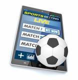 Concept des paris en ligne de sport Photographie stock libre de droits