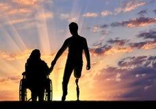 Concept des personnes handicapées Photographie stock