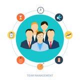 Concept des ressources humaines et du travail d'équipe illustration de vecteur