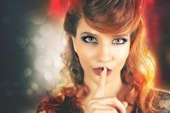 Concept des secrets de carnaval secret Coiffure de mode photo libre de droits