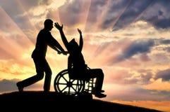 Concept des soins de l'handicapé Photo libre de droits