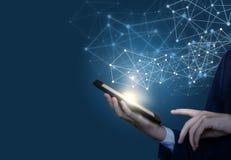 Concept des technologies pour les utilisateurs se reliants illustration stock