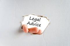 Concept des textes d'avis juridique photos stock