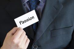 Concept des textes de passion Image stock