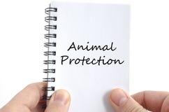 Concept des textes de protection des animaux Photo stock