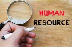 Concept des textes de ressource humaine Images libres de droits