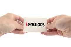 Concept des textes de sanctions Photo libre de droits