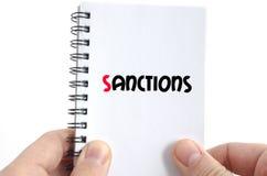 Concept des textes de sanctions Image libre de droits