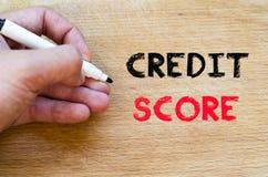 Concept des textes de score de crédit image stock