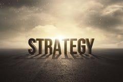 Concept des textes de stratégie illustration libre de droits