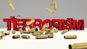 Concept des textes du terrorisme 3d Image libre de droits