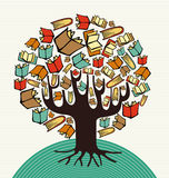 Concept design art books tree Royalty Free Stock Photography