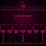 Concept design bar menu party alcohol drinks cocktail or wine Royalty Free Stock Images