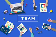 Concept design of business teamwork, meating and planning people stock image