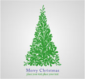 Concept design christmas fur-tree. Royalty Free Stock Photos