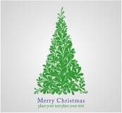 Concept Design Christmas Fur-tree. Royalty Free Stock Photos