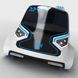 Concept design of the city universal electric vehicle. 3D illustration. Royalty Free Stock Photo