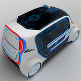 Concept design of the city universal electric vehicle. 3D illustration. Royalty Free Stock Photos
