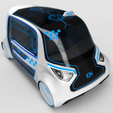 Concept design of the city universal electric vehicle. 3D illustration. Stock Photos