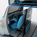 Concept design of the city universal electric vehicle. 3D illustration. Royalty Free Stock Image